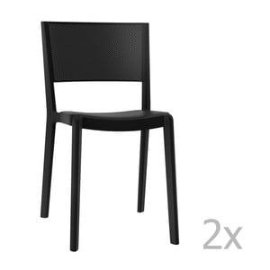 Zestaw 2 czarnych krzeseł ogrodowych Resol spot