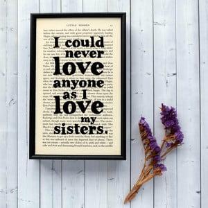 Plakat w   drewnianej ramie Little Women Sisters