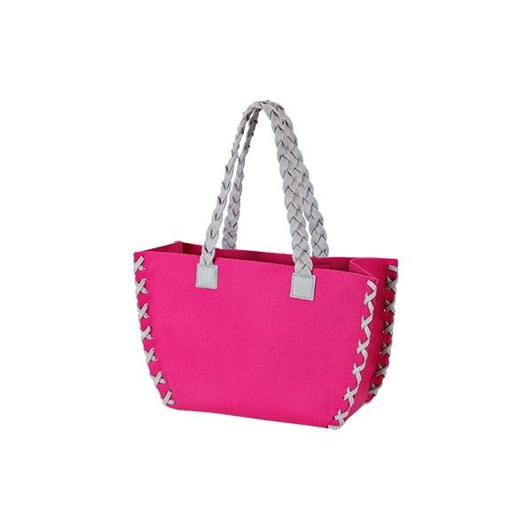 Mała filcowa torba, różowa