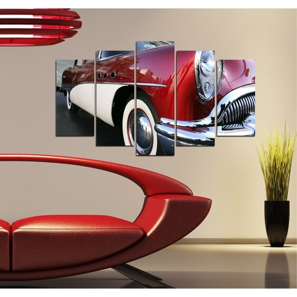 5-częściowy obraz Samochód retro