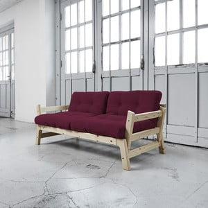 Sofa rozkładana Karup Step Natural/Light Bordeaux