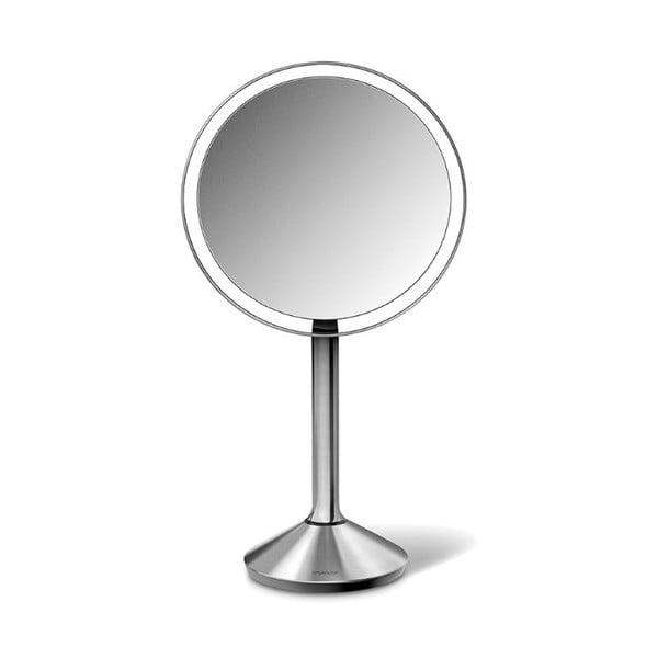 Kosmetyczne lusterko powiększające simplehuman Sensor, matowa stal