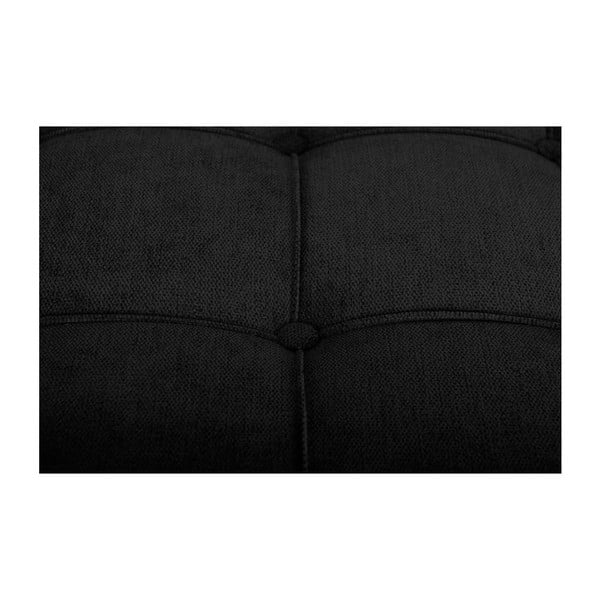 Czarna ławka JohnsonStyle Milton, 45x90 cm