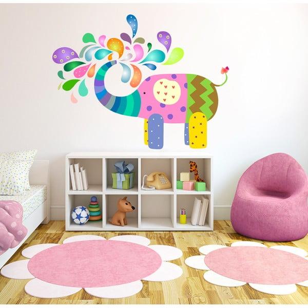 Naklejka na ścianę Szczęśliwy słoń, 50x70 cm
