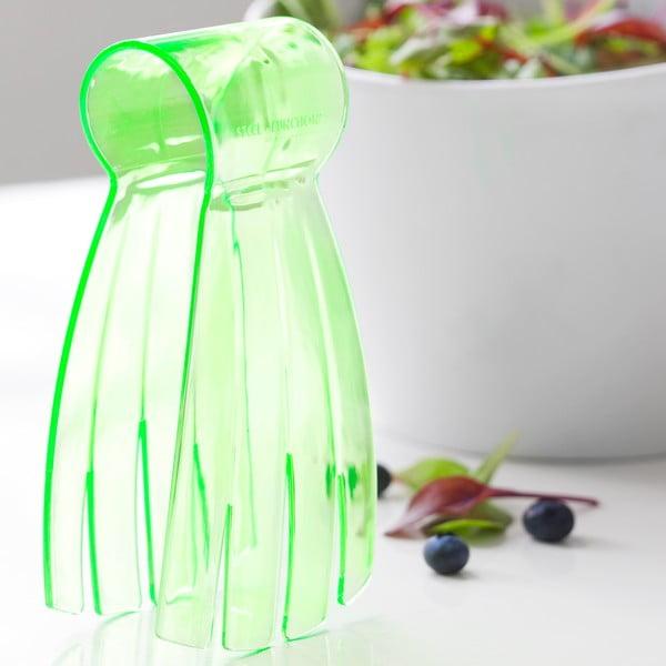 Szczypce do sałaty Steel Function Salad Hand, zielone