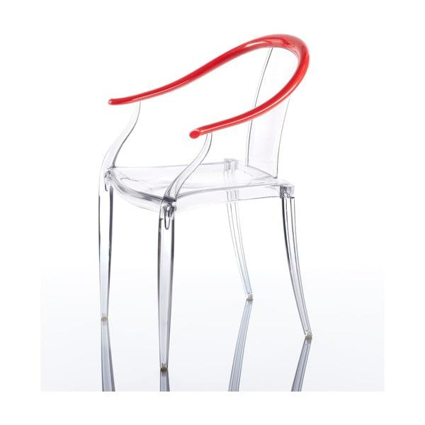 Komplet 2 krzeseł Mi Ming, czarwone