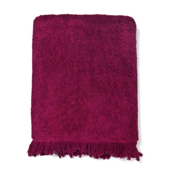 Zestaw 2 bordowych ręczników i 2 ręczników kąpielowych Casa Di Bassi Bath