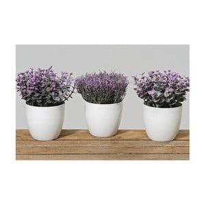 Zestaw 3 sztucznych kwiatków w doniczce In Pot