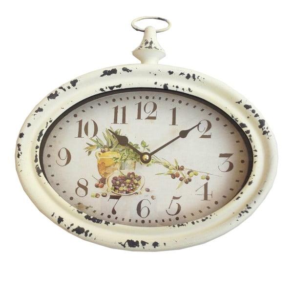 Owalny zegar ścienny Bolzonella Olive