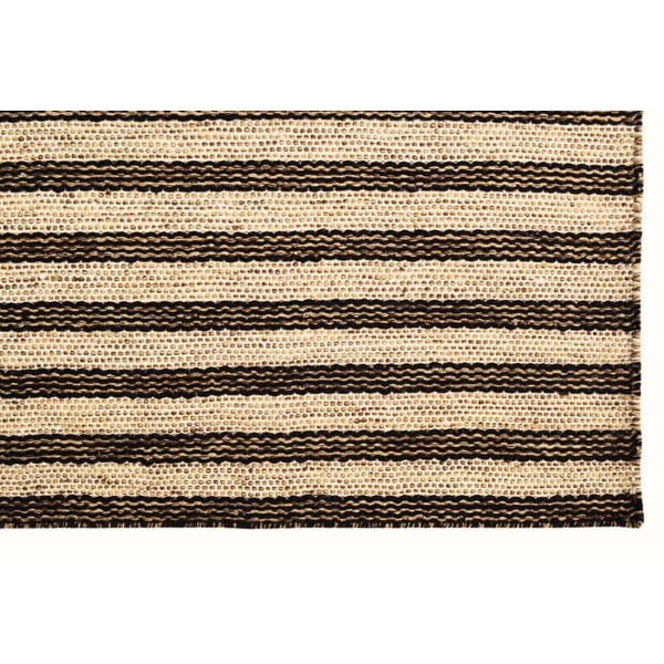 Ręcznie tkany kilim Dark Brown Lines Kilim, 115x150 cm