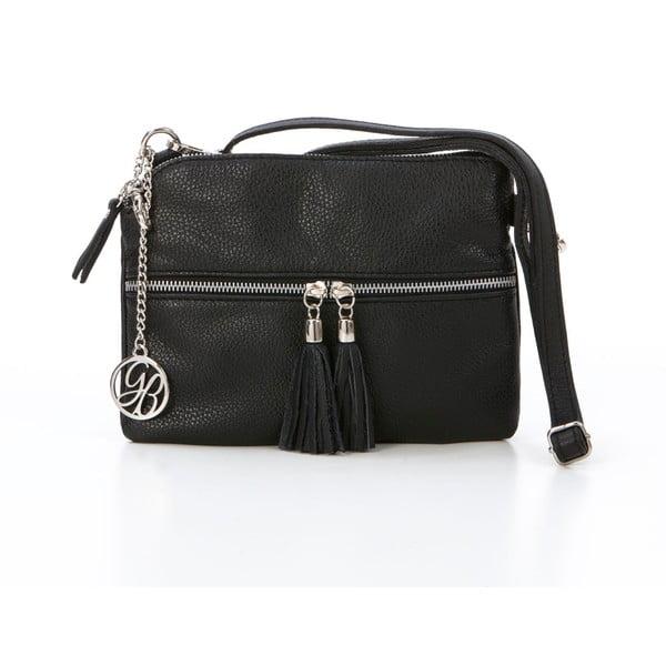 Skórzana torebka Alberto, czarna