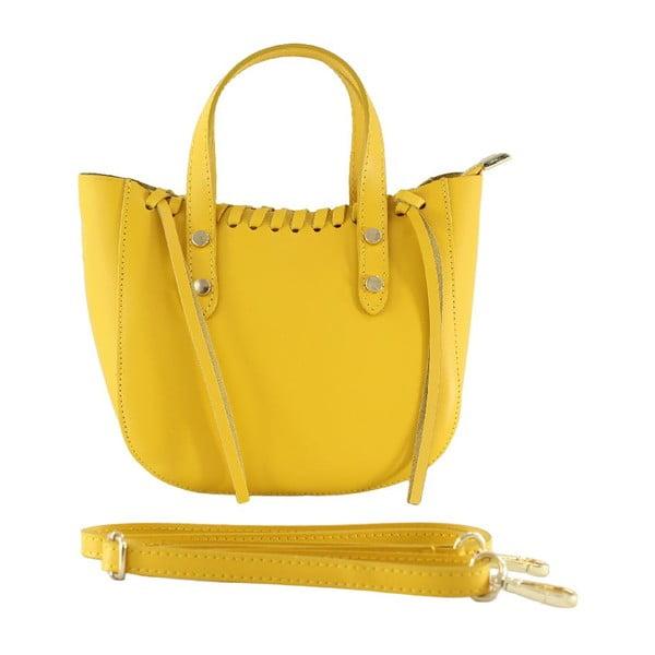 Skórzana torebka Genissa, żółta