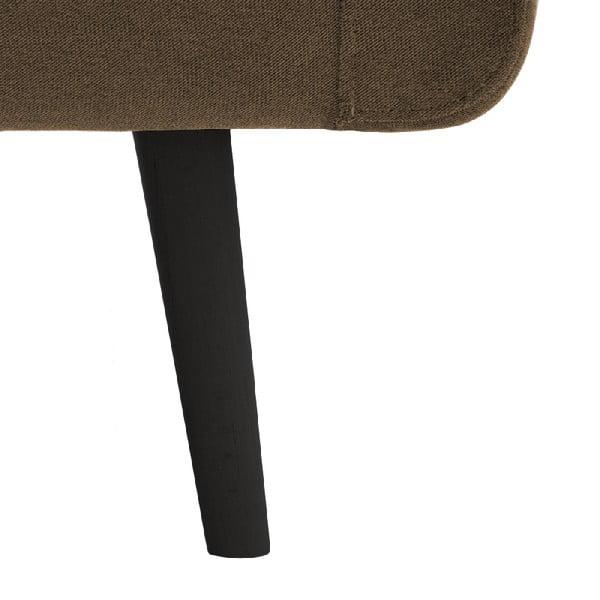 Narożnik lewostronny VIVONITA Sondero Light Brown, czarne nogi