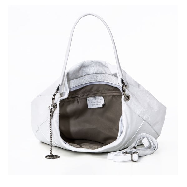 Skórzana torebka Alessandro, biała
