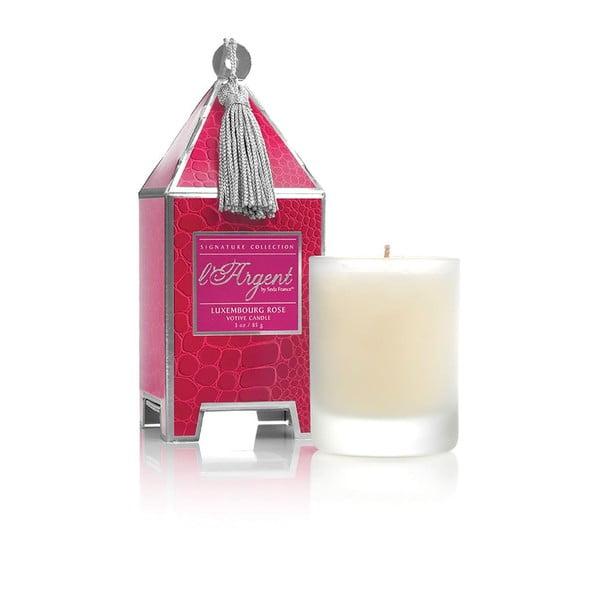 Zestaw 2 świeczek Luxembourg Rose, 15-20h palenia