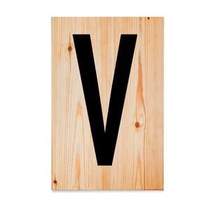 Drewniana tabliczka Letters V