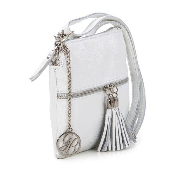 Skórzana torebka Alberto, biała