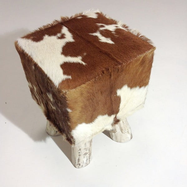 Puf Colo Hocker Brown White