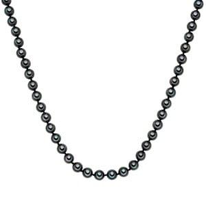 Perłowy naszyjnik Muschel, antracytowe perły 8 mm, długość 60 cm