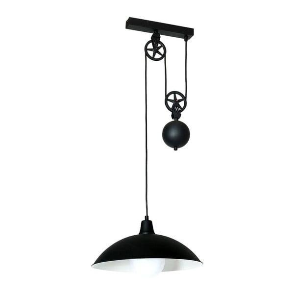 Czarna lampa wisząca Perseus Duro