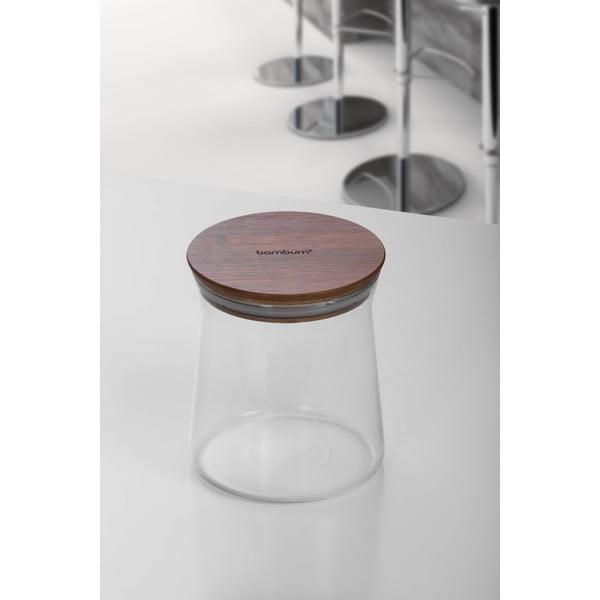 Szklany pojemnik z bambusową przykrywką Bambum Olla, 13 cm
