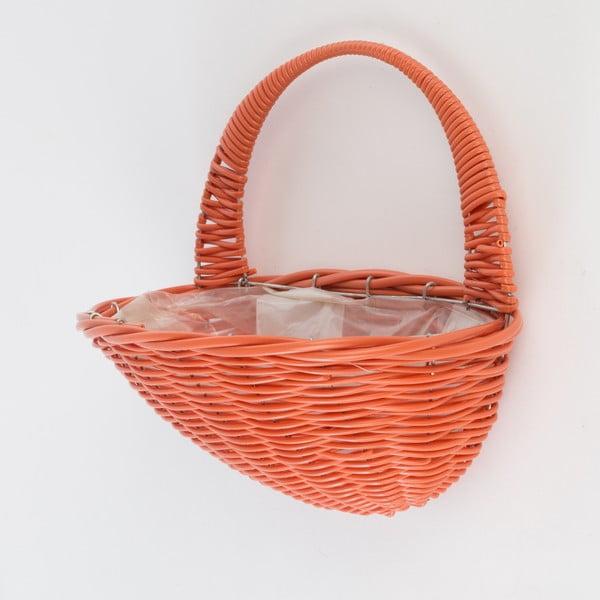 Naścienna doniczka rattanowa Baskie Orange