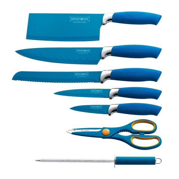 7-częściowy komplet noży w stojaku Color, niebieski