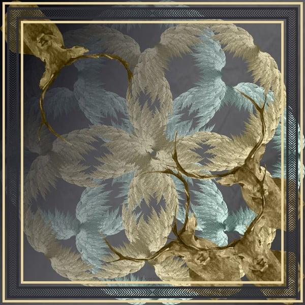 Chusta Stag Blue, 130x130 cm