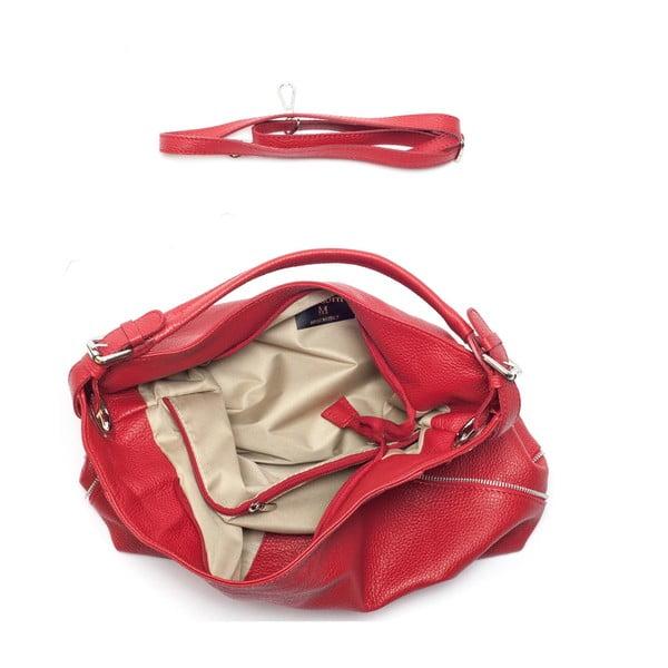 Skórzana torebka Mangotti 1139, czerwona