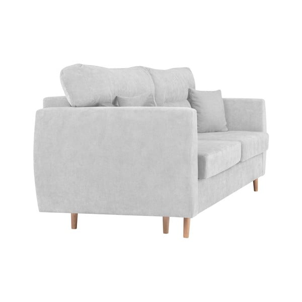3-osobowa sofa rozkładana ze schowkiem w kolorze srebrnym Cosmopolitan design Sydney