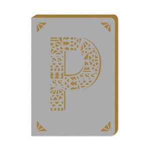 Notatnik w linie A6 z monogramem Portico Designs P, 160str.