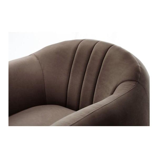 Brązowy fotel Scandi by Stella Cadente Maison Comete Stripes