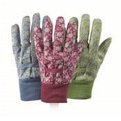 3 pary rękawic ogrodniczych Falling Flowers