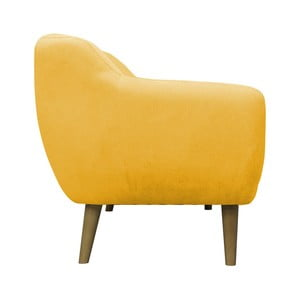 Żółty fotel Mazzini Sofas Sardaigne