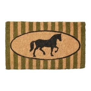 Wycieraczka Green Stripe Horse, 75x45 cm