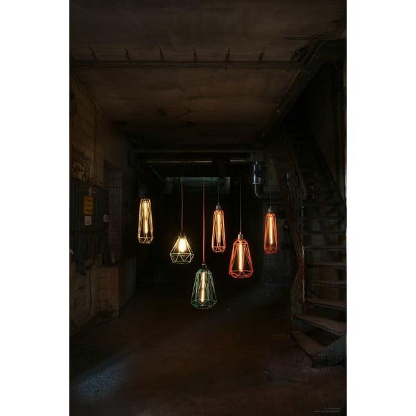 Niebieska lampa wisząca z pomarańczowym kablem Filament Style Diamond #5
