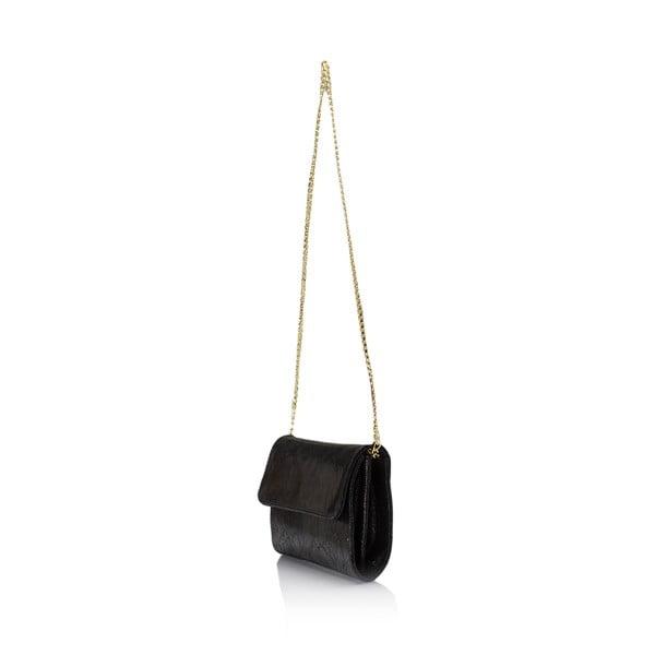 Czarna torebka skórzana Giulia Massari Siana