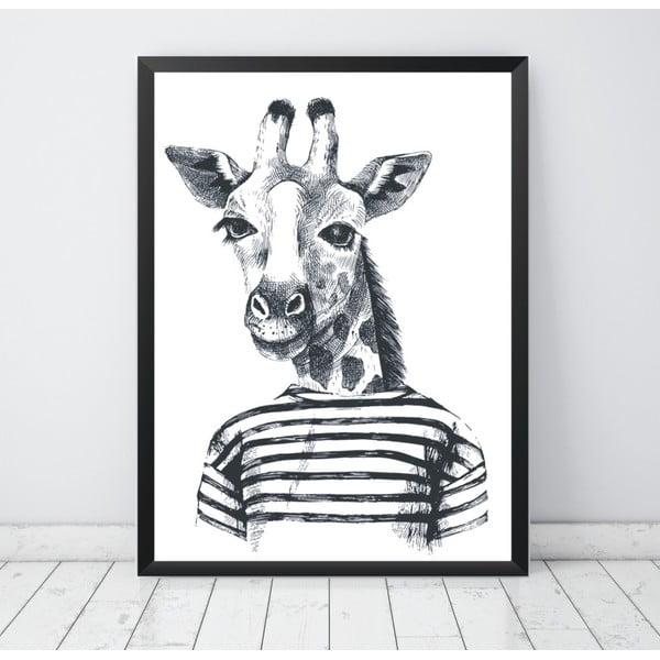 Plakat Nord & Co Hipster Giraffe, 30x40 cm