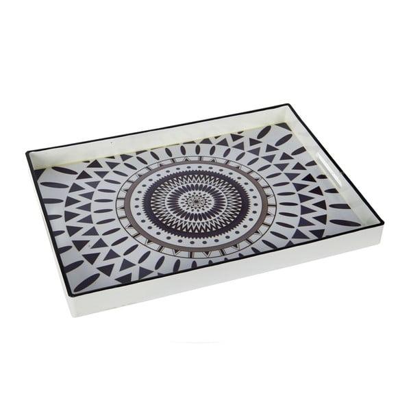 Plastikowa taca Black and White, 48x35 cm