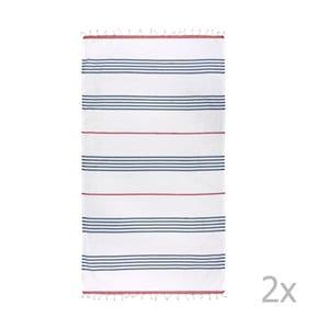 Zestaw 2 ręczników hammam HF Living Lagoon
