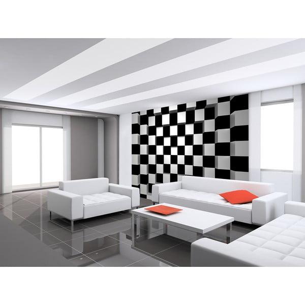 Tapeta wielkoformatowa BW Squares, 366x254 cm