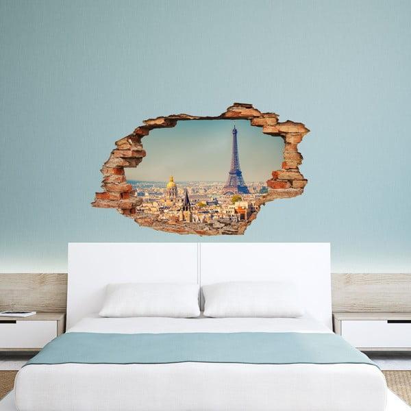 Samoprzylepny zegar Paris View