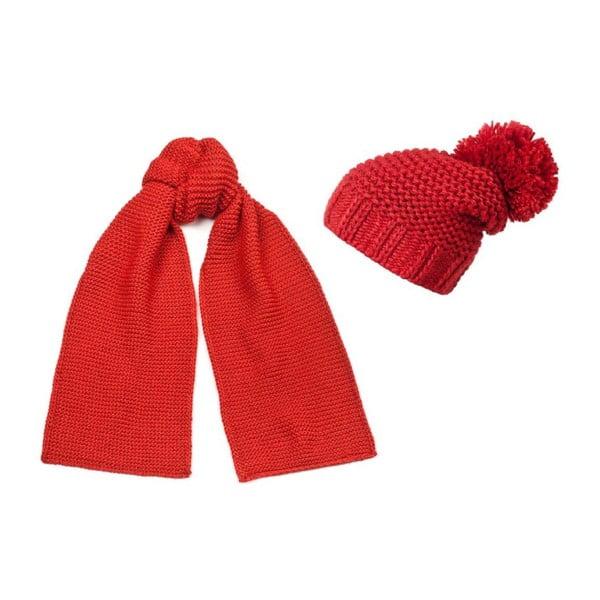Czapka i szalik Elegant Red