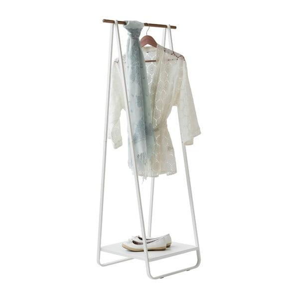 Wieszak na ubrania z półeczką Compactor Portant Blanc