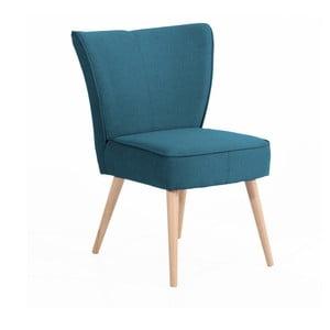 Niebieski fotel Max Winzer Beni