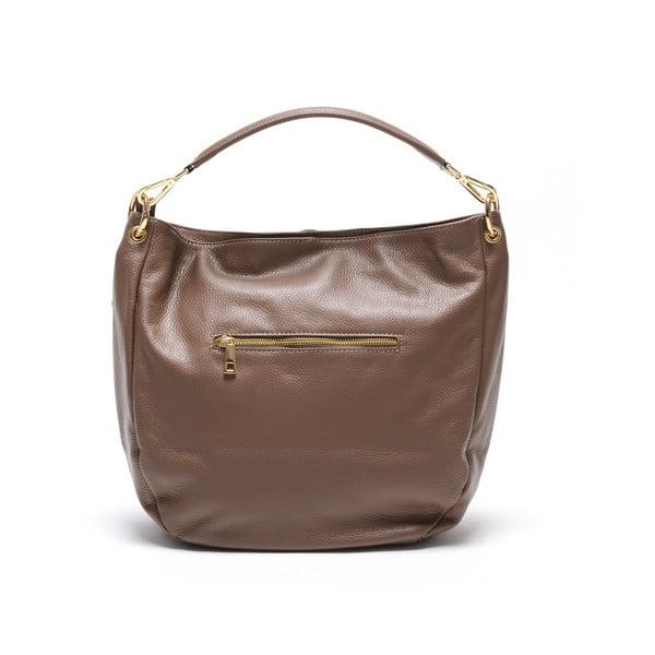 Skórzana torebka Fila, brązowa