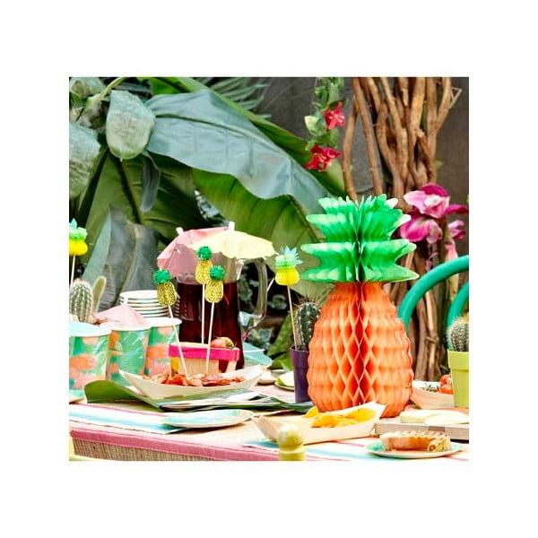 Papierowe dekoracje Tropicana Pineapple, 3 sztuki