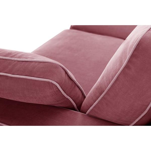 Sofa trzyosobowa Jalouse Maison Serena, różowa