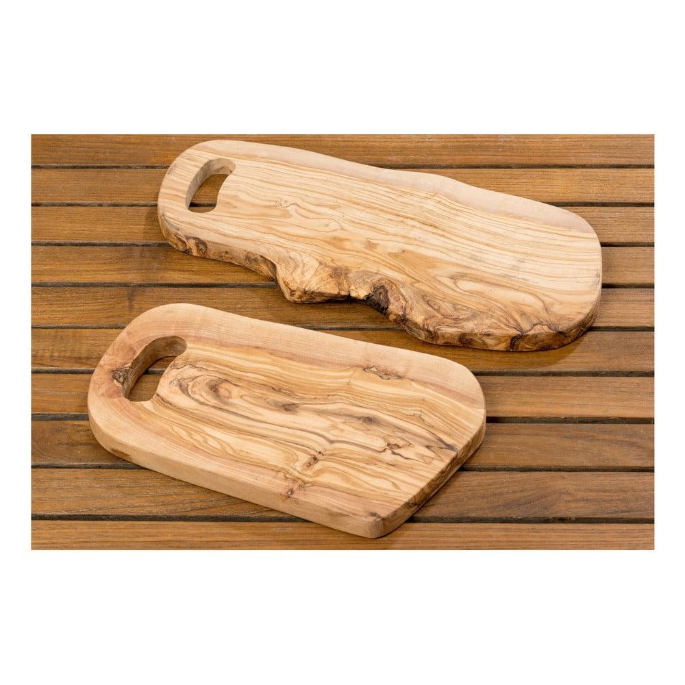 Zestaw 2 Desek Do Serwowania Z Drewna Oliwnego Boltze Juri Bonami