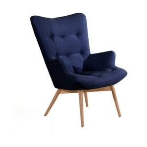 Ciemnoniebieski fotel Max Winzer Aiko